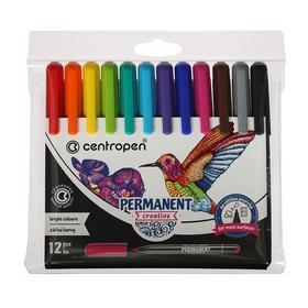 Набор маркеров для декора, 12 цветов, 3.3 мм, Centropen 2896 Creative, перманентные