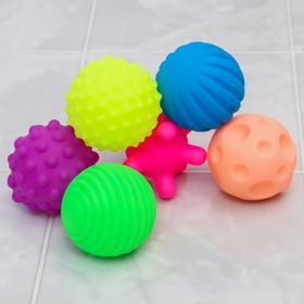 Набор игрушек для купания «Космос светлый», 6 шт, с пищалкой