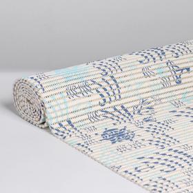 Коврик ПВХ «Морские знаки», 0,65×2 м, цвет белый Ош