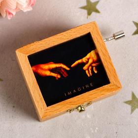 """Музыкальная шарманка """"Imagine"""", 6,5 ×5,5 см - фото 2237280"""