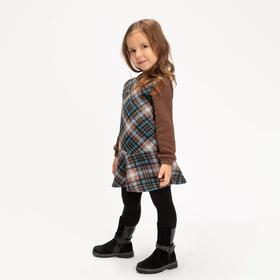 Платье для девочки, цвет коричневый, 104-110 см (110)