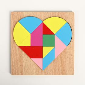 """Puzzle """"Build shapes and patterns"""", heart"""
