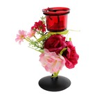 подсвечник металл с цветами 1 свеча Яркий букет