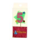 "Candle wax cake ""Star"" figure 5"