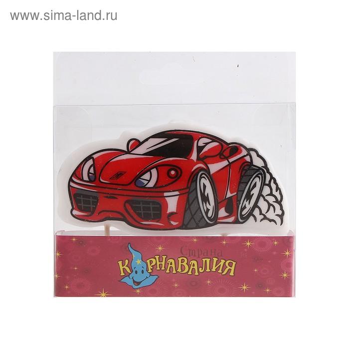 """Свеча восковая для торта """"Машинка"""""""