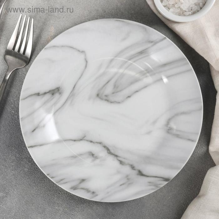 "Dessert plate ""Marble"" 19x2 cm, CET gray"