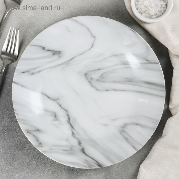 """Dining plate """"Marble"""" 24x2,5 cm, color gray"""