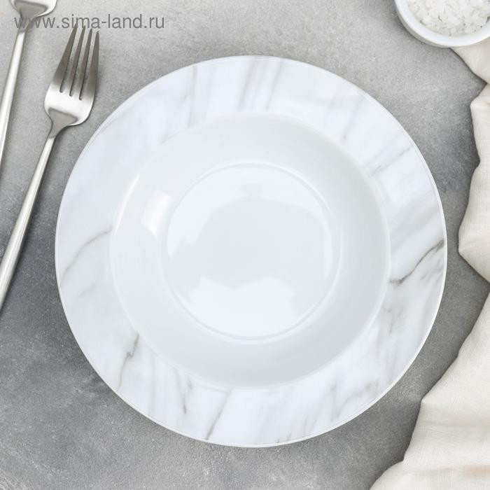 """Soup plate """"Marble"""" 300 ml, 21x3.5 cm, color pink"""