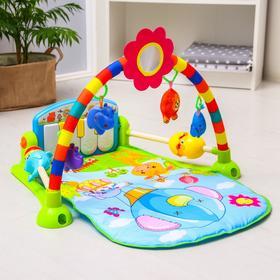 Развивающий коврик «Пианино», муз.,игрушки, зеркало