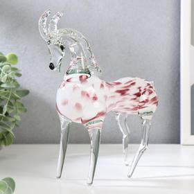 """A souvenir glass to Steklomash """"Goat"""" 20cm b/m"""