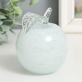 """A souvenir glass to Steklomash """"Apple"""" 9 cm white"""