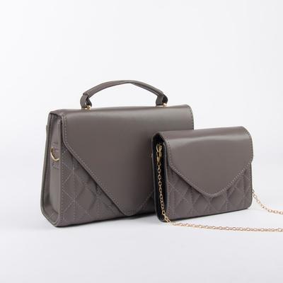 Women Louis bag set, 27*9*20, otd on the flap, length of belt, chain, dark gray