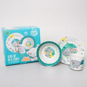 Набор посуды «Наше счастье», 3 предмета: тарелка Ø 16,5 см, миска Ø 14 см, кружка 200 мл в подарочной упаковке, Me to You