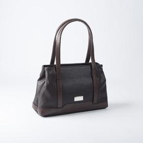 Сумка женская, 2 отдела на молнии, наружный карман, цвет коричневый