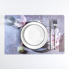 Салфетка кухонная двусторонняя «Чаепитие», 43×28 см