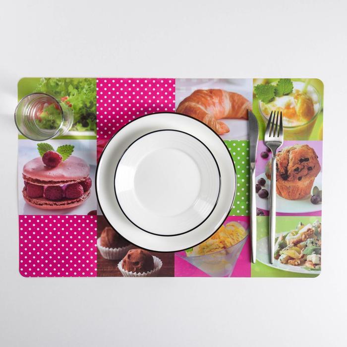 Салфетка кухонная двусторонняя «Вкусняшки», 43×28 см - фото 496974