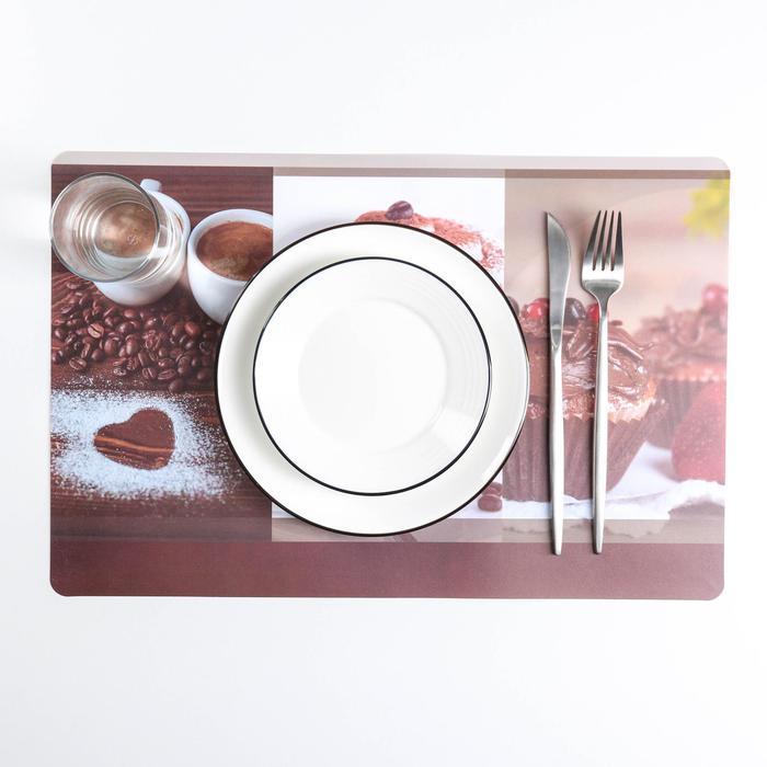 Салфетка кухонная двусторонняя «Кофе», 43×28 см - фото 496978