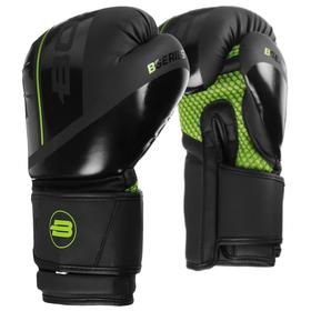 Перчатки боксёрские BoyBo B-Series, флекс, цвет зелёный, 12 унций