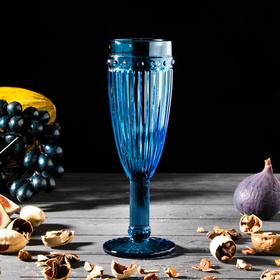 "Champagne glass ""Bosphorus"" 180 ml 7x7x20, color blue"