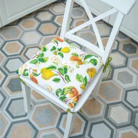 Подушка на стул «Сладкая груша», размер 45×45 см, рогожка