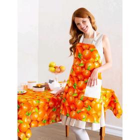 Фартук «Сочный апельсин», размер 75×67 см, рогожка