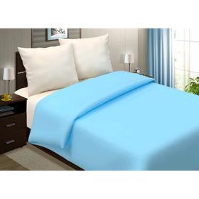 Пододеяльник, размер 160×200 см, поплин, голубой