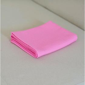 Простыня, размер 145×200 см, вафля,  розовый