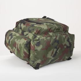 Рюкзак туристический, 55 л, отдел на шнурке, 3 наружных кармана, цвет камуфляж - фото 1771646