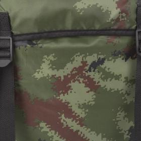 Рюкзак туристический, 55 л, отдел на шнурке, 3 наружных кармана, цвет камуфляж - фото 1771647