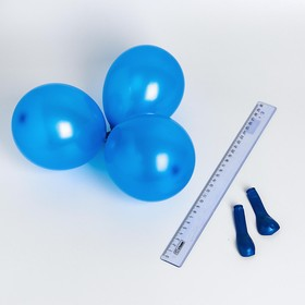 """Шар латексный 5"""", металл, набор 100 шт., водные бомбочки, цвет синий"""