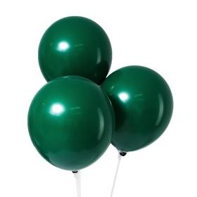 """Шар латексный 12"""", пастель, набор 50 шт., цвет темно-зелёный"""
