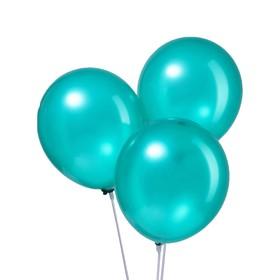 "Шар латексный 12"", металл, набор 100 шт., цвет зелёный"