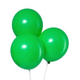 """Шар латексный 10"""", пастель, набор 5 шт., цвет зелёный"""