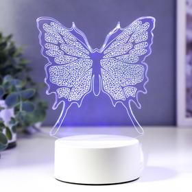 "Светильник ""Бабочка"" LED RGB от сети 14х9,5х18 см"