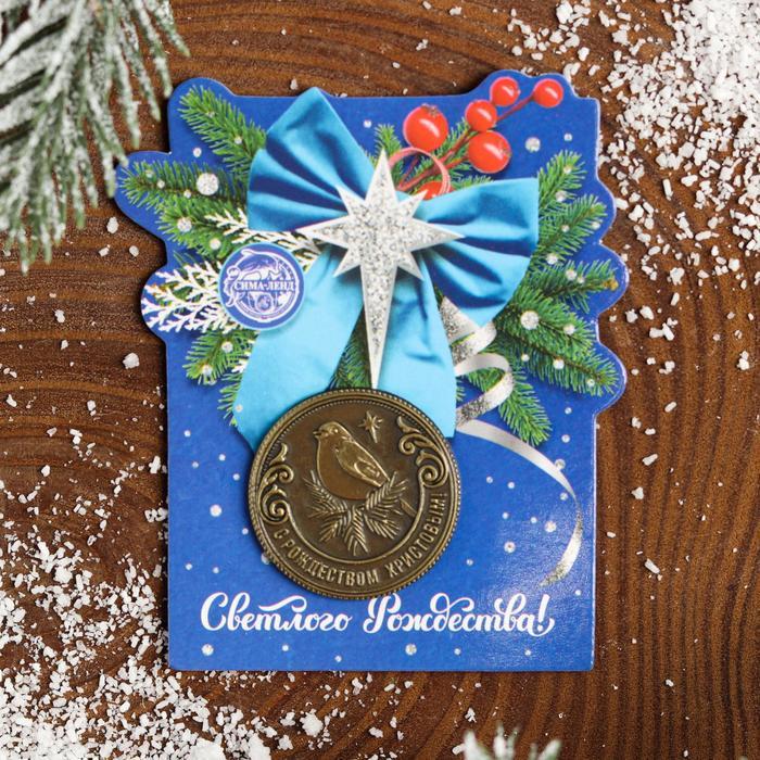Рождественская монета-талисман «Снегирь»