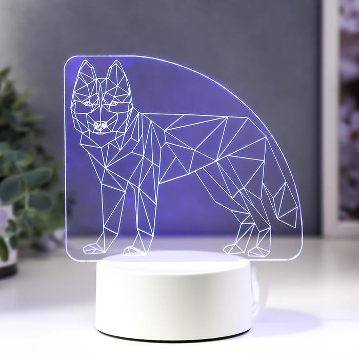"Светильник ""Волк"" LED RGB от сети 9,5х14,5х17 см"