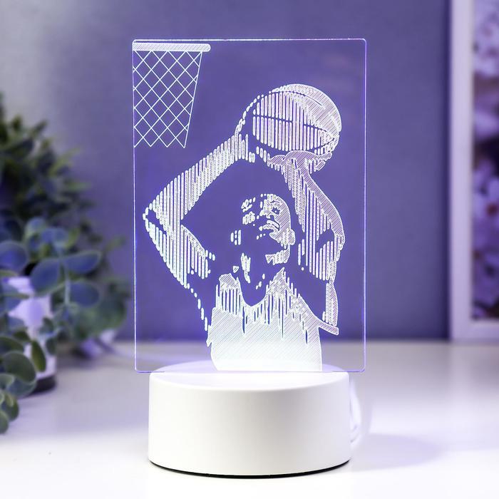 """Светильник """"Баскетбол"""" LED RGB от сети 9,5х11х20 см"""