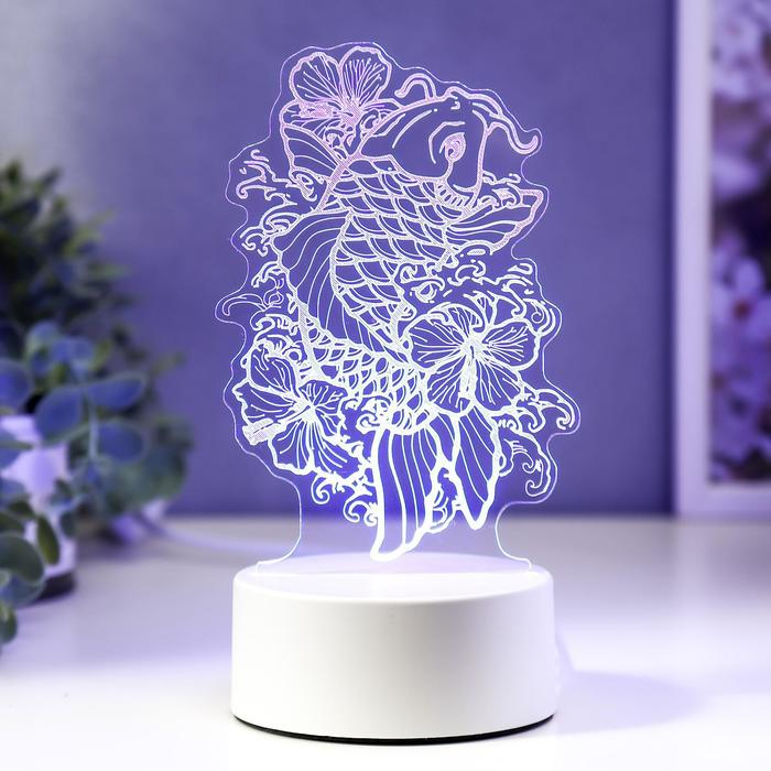 """Светильник """"Золотая рыбка"""" LED RGB от сети 9,5х11х19 см"""