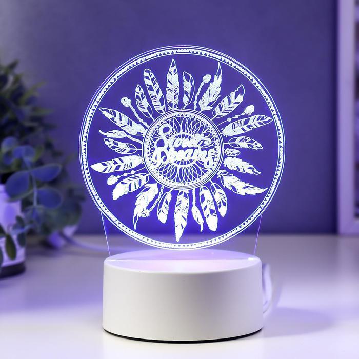 """Светильник """"Перья"""" LED RGB от сети 9,5х12х17 см"""
