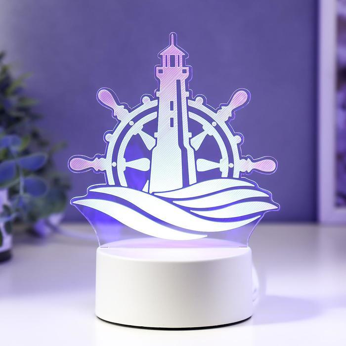 "Светильник ""Море"" LED RGB от сети 9,5х13х17 см"