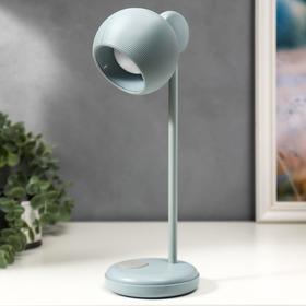 Лампа настольная 16044/1GY LED 4Вт 3 режима  АКБ USB серый 10,5х10,5х31 см