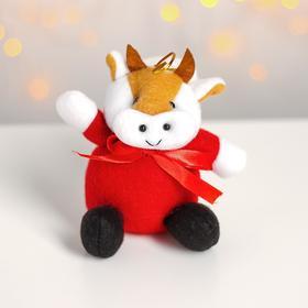 Мягкая игрушка «Коровка с бантом», на подвесе, цвета МИКС