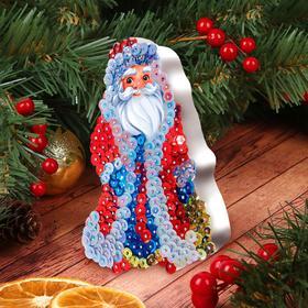 Аппликация пайетками «Дед Мороз»