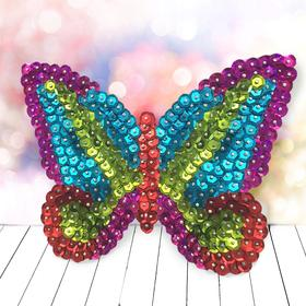 Аппликация пайетками «Бабочка»+ 4 цвета пайеток