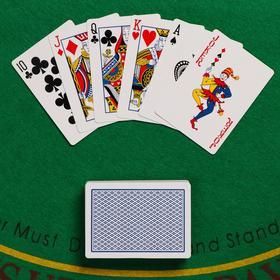 Карты игральные бумажные Boval-x2,  54 шт, 6.5х9х2 см, 290 гр/см. , микс