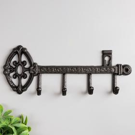 """Decorative metal hooks """"Key. Middle ages"""" 13,8x36x3,5 cm"""