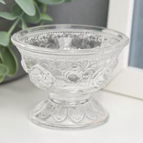 "Подсвечник стекло на 1 свечу ""Креманка"" прозрачный 5,2х7х7 см"