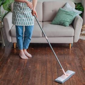 Швабра плоская с телескопической ручкой Raccoon, 40×14×90(120) см, микрофибра - фото 4647427