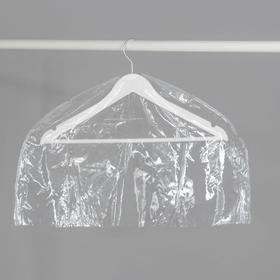 Чехол для одежды 60×30 см, прозрачный