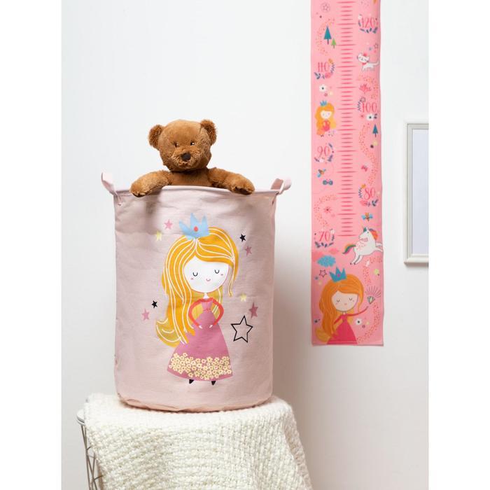 """Корзинка текстильная Этель """"Magic princess"""" 34х43 см, водонепроницаемая"""